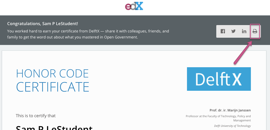 Can I get a paper copy of my certificate? – edX Help Center