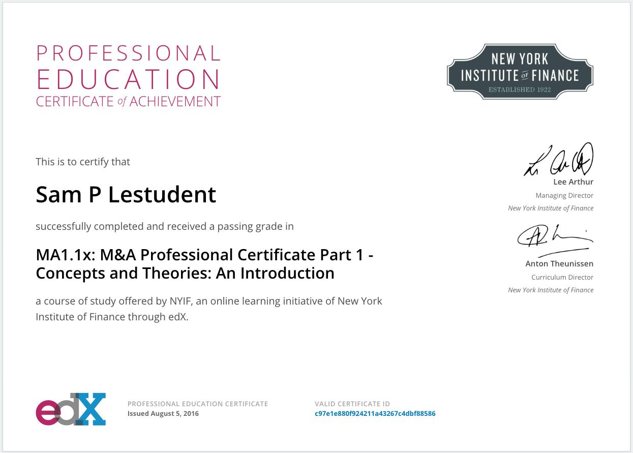 Mi certificado de un curso de Educación Profesional tiene otro tipo ...